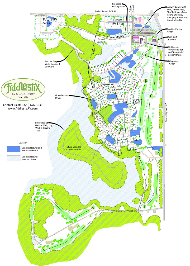 FiddleStix RV Resort Site Map